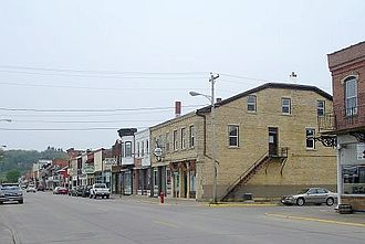 U.S. Route 52 - US 52 passes through downtown Bellevue, Iowa
