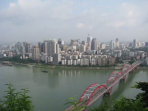 Downtown Liuzhou, China, seen from Half Mountain.jpg
