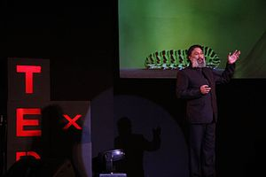 Alex Mathew - Dr.Alex giving a talk at TEDx Delhi