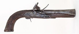 Blunderbuss - A blunderbuss pistol, or dragon, found at a battlefield in Cerro Gordo, Veracruz, Mexico