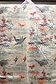 Dress in Bingata Stencil Dyeing, Okinawa Main Island, Second Sho Dynasty, Ryukyu Kingdom, 19th century, view 1, bamboo, crane, and plum design on white ramie ground, hemp - Tokyo National Museum - DSC05388.JPG