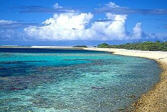 Ducie Island - A beach on Acadia Islet