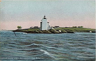 Dutch Island (Rhode Island) - Dutch Island Light, from an early twentieth century postcard