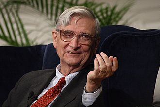 "E. O. Wilson - Wilson at a ""fireside chat"" during which he received the Addison Emery Verrill Medal in 2007"