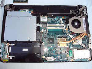 Motherboard - A motherboard of a Vaio E series laptop (right)