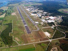 Vue aérienne en 2009.