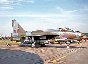 No. 5 Squadron RAF - No.5 Squadron English Electric Lightning F.6 in 1977 after the unit's aircraft had received tactical camouflage.