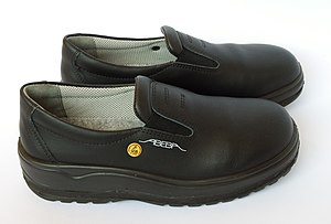 Steel-toe boot - A pair of ISO 20345:2004 compliant A anti-static shoes
