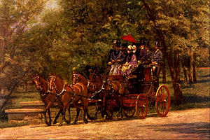 Four-in-hand (carriage) - Image: Eakins, Fairman Rogers Four in Hand (May Morning in Park) 1880