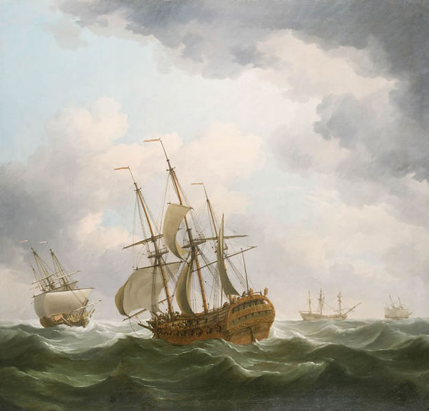 File:East Indiamen in a Gale.jpg
