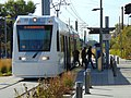 Eastbound S Line at Sugarmont station in Salt Lake City, Utah, Oct 16.jpg