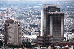 Ebisu Garden Palace from Tokyo Tower cropped.jpg