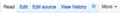 Edit tab in MediaWiki two buttons.png