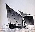 Edward A. Gouder, A Gozo boat, tal-latini, in full sail, 1910s.jpg
