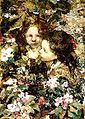 Edward Atkinson Hornel - Two Girls Amongst Blossoms 1910.jpg