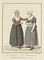 Een Katwijkse en een Volendamse vrouw De Zamenspraak La Conversation (titel op object), BI-B-FM-107-20.jpg