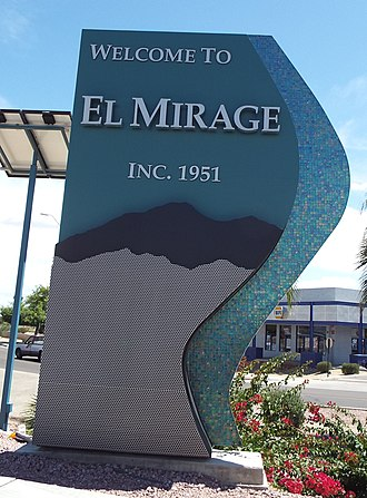 El Mirage, Arizona - Entrance to the town of El Mirage.
