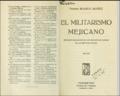 El militarismo mejicano. Portadilla.png
