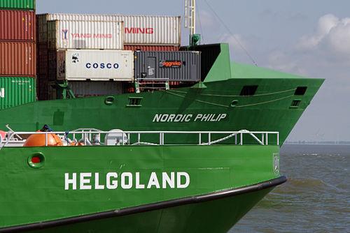 Elbe estuary, Nordic Philip overtakes Helgoland 22.08.2011 13-29-43