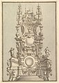 Elevation of a Catafalque, Surmounted by a Royal Crown, with Scull and Cross Bones in Wreath-Encircled Cartouche just below MET DP820116.jpg