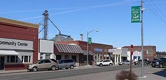 Elgin, Nebraska - Downtown Elgin: west side of 2nd Street, looking north from Cedar Street