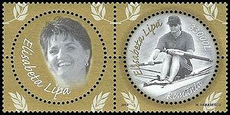 Elisabeta Lipă - Lipă on 2004 Romanian stamps