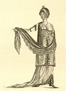 Elise Bürger um 1805 als Cleopatra in August von Kotzebues Octavia. (Quelle: Wikimedia)