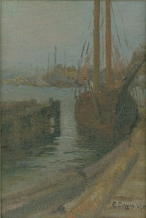 Elizabeth Coffin - Elizabeth Rebecca Coffin,  Fishing Boat in Nantucket Harbor,  1906,  Nantucket Historical Association
