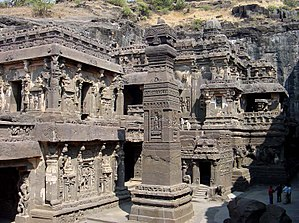 Indian rock-cut architecture - Kailash Temple, Ellora cave 16