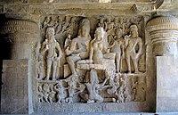 Ellora cave29 Shiva-Parvati-Ravana