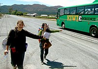 Hitchhiking in New Zealand, 2006