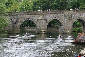 Durham Regatta - Image: Elvet Bridge at the Durham Regatta