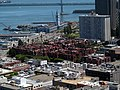 Embarcadero Square and Ferry Building from Coit Tower, June 2017.JPG