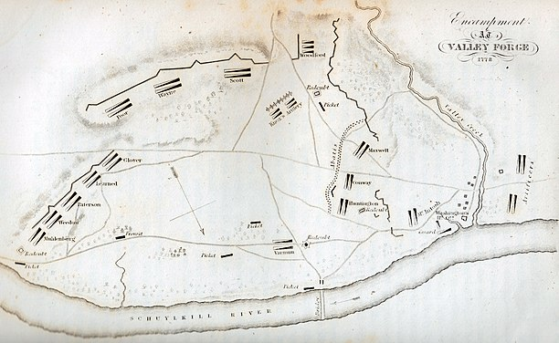 Encampment at Valley Forge 1778