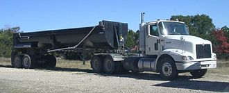 Semi-trailer truck - Tractor with a dump trailer