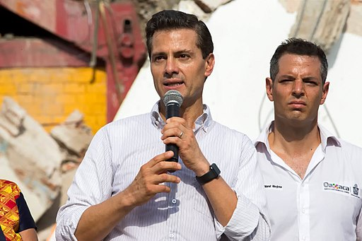 EMexican President Enrique Peña Nieto's visit to the Istmo de Tehuantepec region, a zone affected by the 2017 Chiapas earthquake.