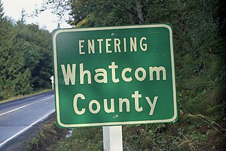 Whatcom County, Washington - Sign at county boundary, 1970