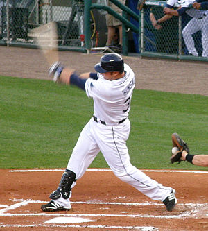 Eric Hinske - Hinske batting for the Tampa Bay Rays on April 24, 2008.