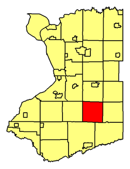 Location of Colden in Erie County