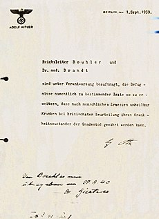 Erlass von Hitler - Nürnberger Dokument PS-630 - datiert 1. September 1939.jpg