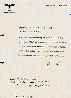 Erlass von Hitler - Nürnberger Dokument PS-630 - datiert 1. September 1939.jpg