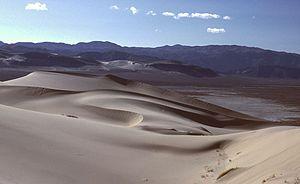 Eureka Valley Sand Dunes - The Eureka Dunes, looking west.