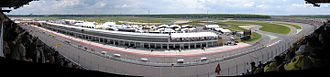 EuroSpeedway Lausitz - Panorama shot of the speedway from the grandstands.