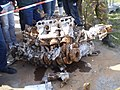 Excavated Messerschmidt Bf 109 engine block.jpg