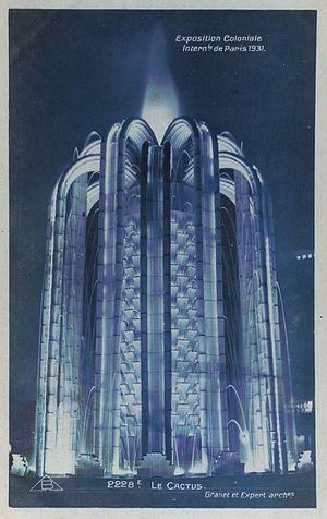"Paris Colonial Exposition - ""Le Cactus"", architects André Granet and Roger-Henri Expert"