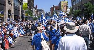 Saint-Jean-Baptiste Day - Saint-Jean-Baptiste parade, Montreal, June 24, 2006