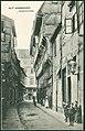 F. Astholz jun. AK 0806 Alt-Hannover, Kaiserstraße, Bildseite mit Blick zur Knochenhauerstraße, vorkragende Fachwerkhäuser, Kinder, Pferdeäpfel.jpg