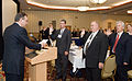 FEMA - 33223 - Administrator Paulison administers the Oath of Office to NAC members.jpg