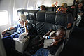FEMA - 37750 - Residents on an airplane evacuating Louisiana.jpg