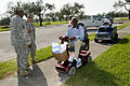 FEMA - 38405 - National Guardmen watch residents leave a distribution site in Texas.jpg